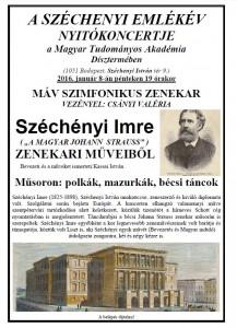 A Széchenyi Emlékév Nyitókoncertje