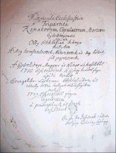 Szeniczey Bárány György evangélikus lelkész családja és leszármazottai