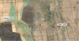 Nikla kataszteri térképe 1859-ből